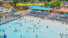Guests enjoying Hurricane Harbor on Labor Day Weekend