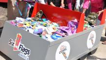 Coaster themed school supply drive bin