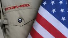 Boy Scout Uniform and Flag