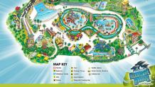 Hurricane Harbor LA Park Map