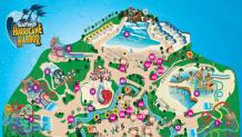 Hurricane Harbor NJ Park Map