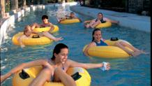 Guests floating down river cruise