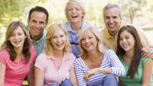Smiling Family with Teens