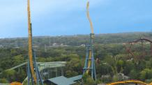 Wide shot of Vertical Velocity spires