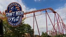 Raging Bull next to Gurnee Legions of Craft Beer Fest blue and orange logoC