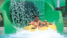 Father's Day water slide ride