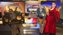 Costumed Fright Fest fan