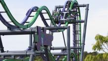 THE JOKER 4D Coaster track