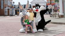 Kids with Looney Tunes characters