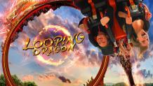 Looping coaster logo and art