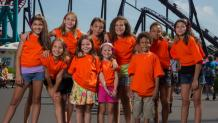 Group  of children in matching shirts
