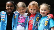 Daisy Girl Scouts celebrate Scout Days at Six Flags