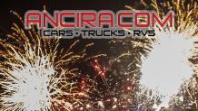 New Year;s Eve firewoks and Ancira.com sponsor logo
