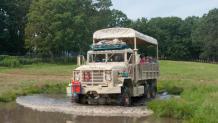 Safari car on tour