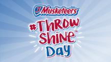 The words 3 Musketeers #ThrowShine Day