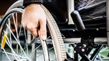 Wheelchair wheel close-up