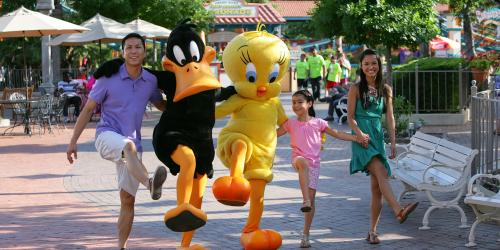 Tweety Bird and Daffy Duck having fun with guests