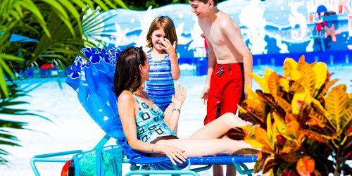 Family in waterpark