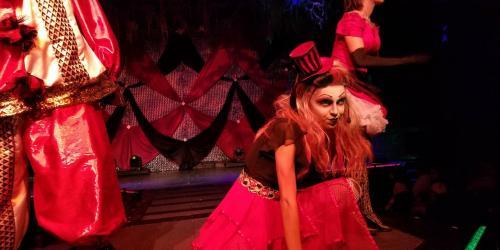 Alice posing in The Ringmasters Cabaret