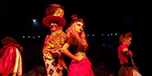 Ringmaster and Alice posing in The Ringmasters Cabaret
