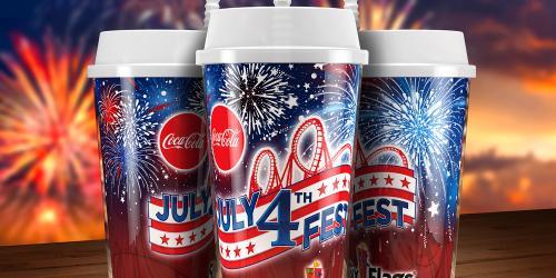 Six Flags Coca-Cola July 4 Souvenir Mug
