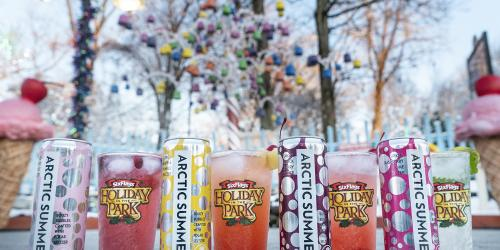 Arctic Summer Fruit-Forward Flavored Hard Seltzer at Six Flags New England Holiday in the Park.