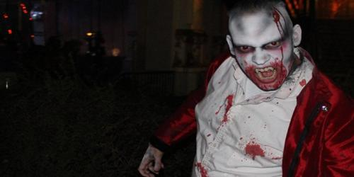 close up of gruesome vampire at Carousel Plaza