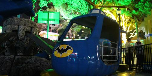 Batcopter at Night