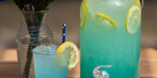 Blue spiked lemonade