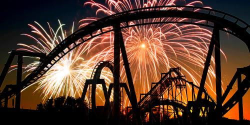 Fireworks and roller coasters