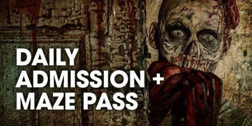 Daily admission plus haunted maze pass graphic