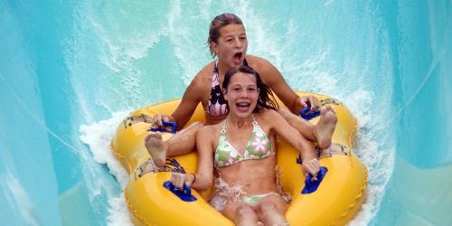 Girls on Tube Slide