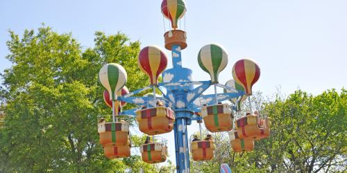 Guests whirl in the air on Cloud Bouncer