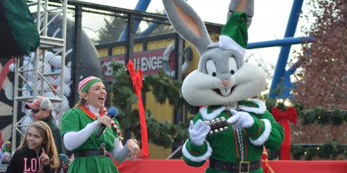 Tyna Tunes and Bugs Bunny during Holiday in the Park at Six Flags New England