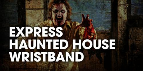 Fright Fest express haunted wristband graphic