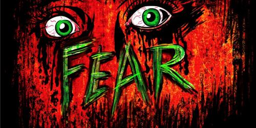 Fear logo with scared eyes