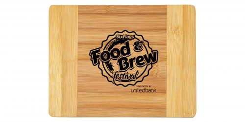Food and Brew Festival Presented by United Bank Cutting Board