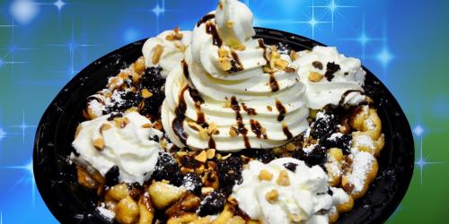 chocolate covered funnel cake