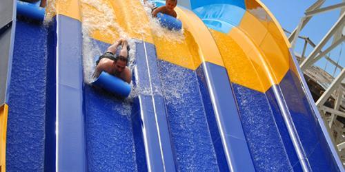 Giant slide at Hurricane Harbor