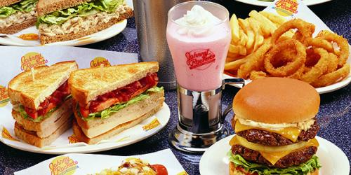 Delicious food from Johnny Rockets at Six Flags Great Escape