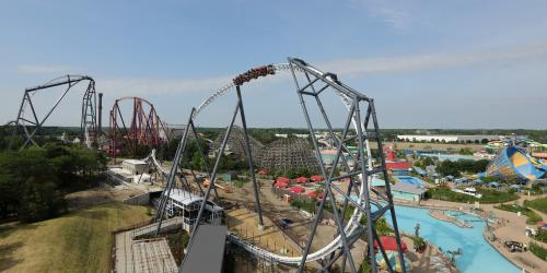 Maxx Force vista with Raging Bull and Hurricane Harbor in background!