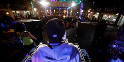 DJ playing hottest hits during Grad Nite