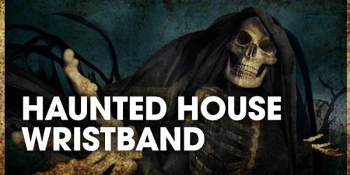 Fright Fest haunted hosue wristband product graphic