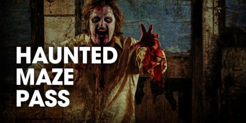 Haunted maze pass graphic