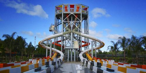water slide complex
