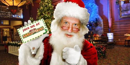 Santa at Six Flags Great Escape Lodge