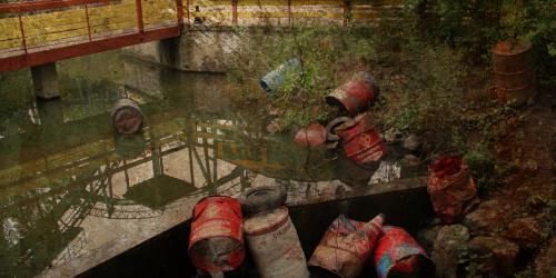 Chemical waste at Hometown Fun Machine