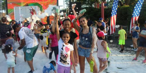 Foam Party at Six Flags over Texas