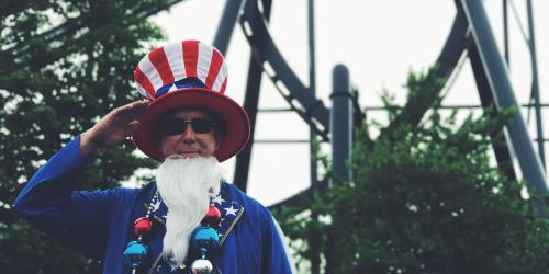 Uncle Sam during 4th Fest
