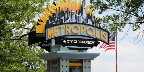 Metropolis Park Sign